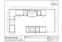 kitchen design plan for a backyard grill