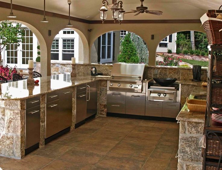 beautiful stone garden kitchen in tampa florida